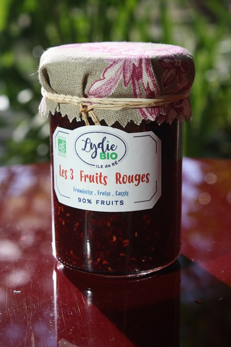 Confiture Les 3 Fruits Rouges BIO